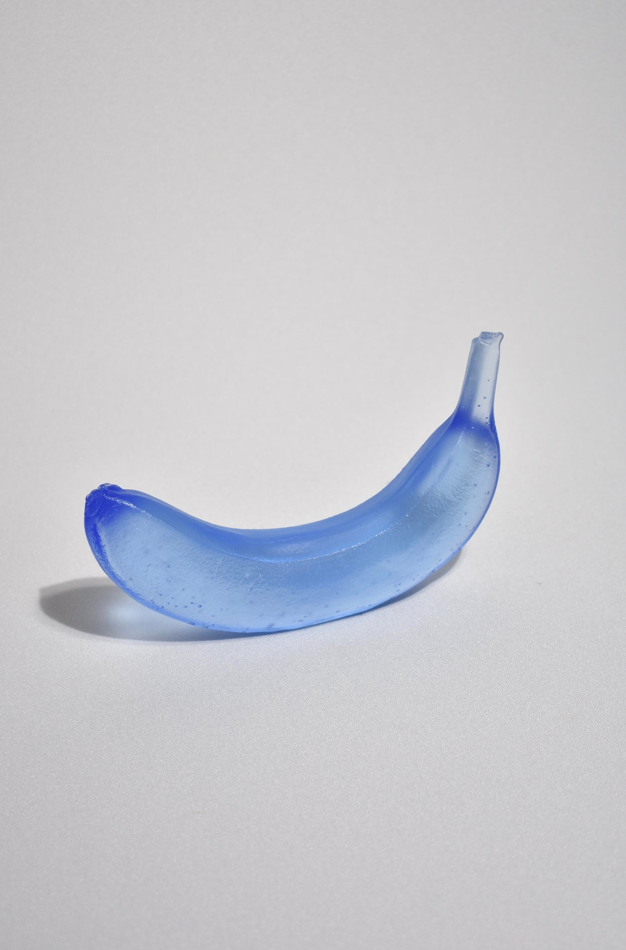 Glass Banana in Blue