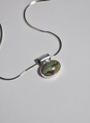 Modernist Stone Pendant Necklace