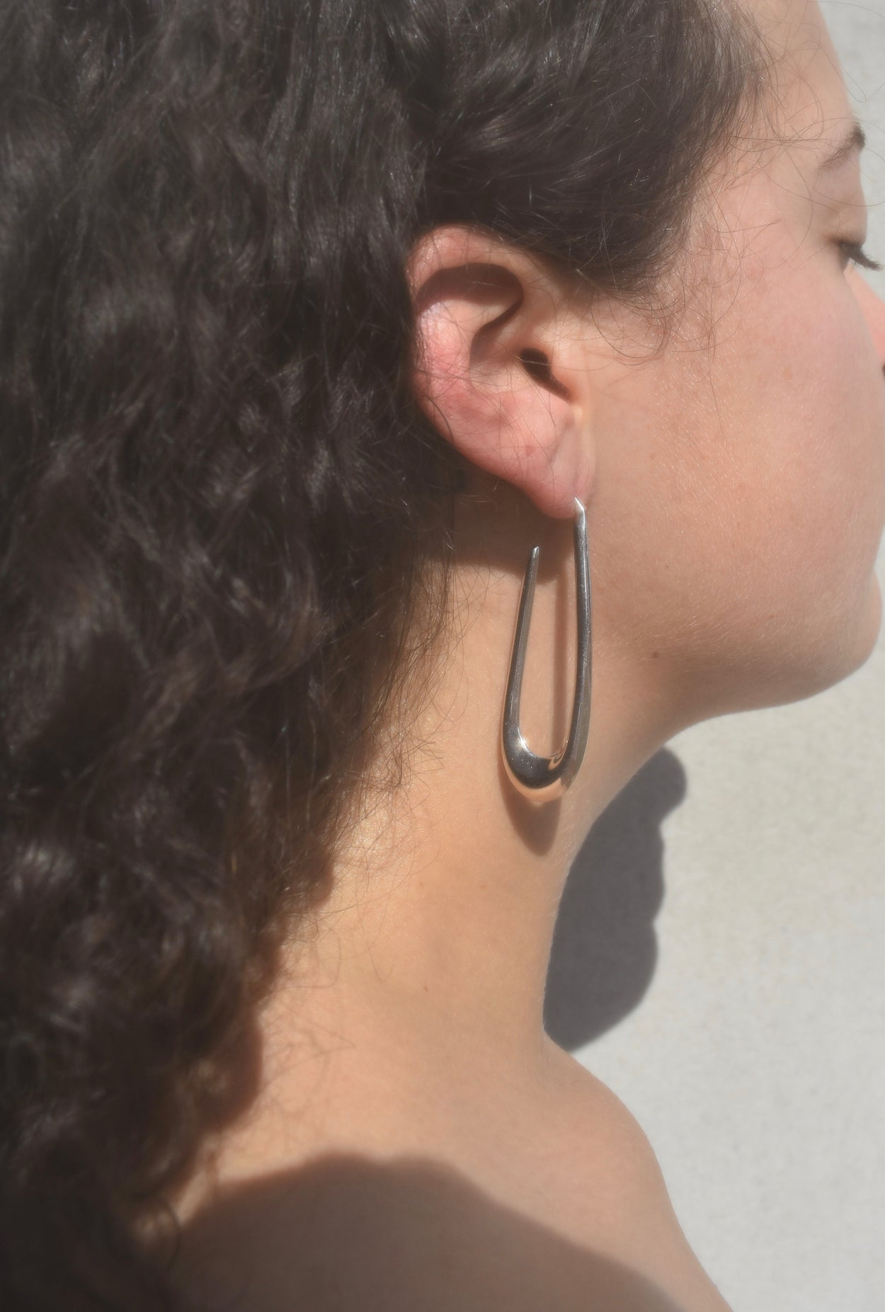 Long Sterling Hoops