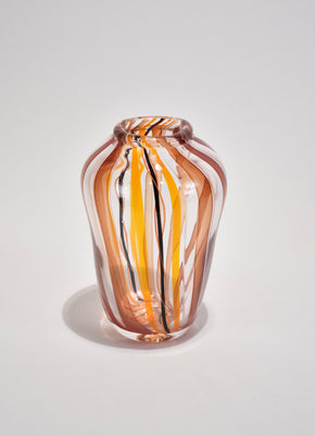 Striped Art Glass Vase