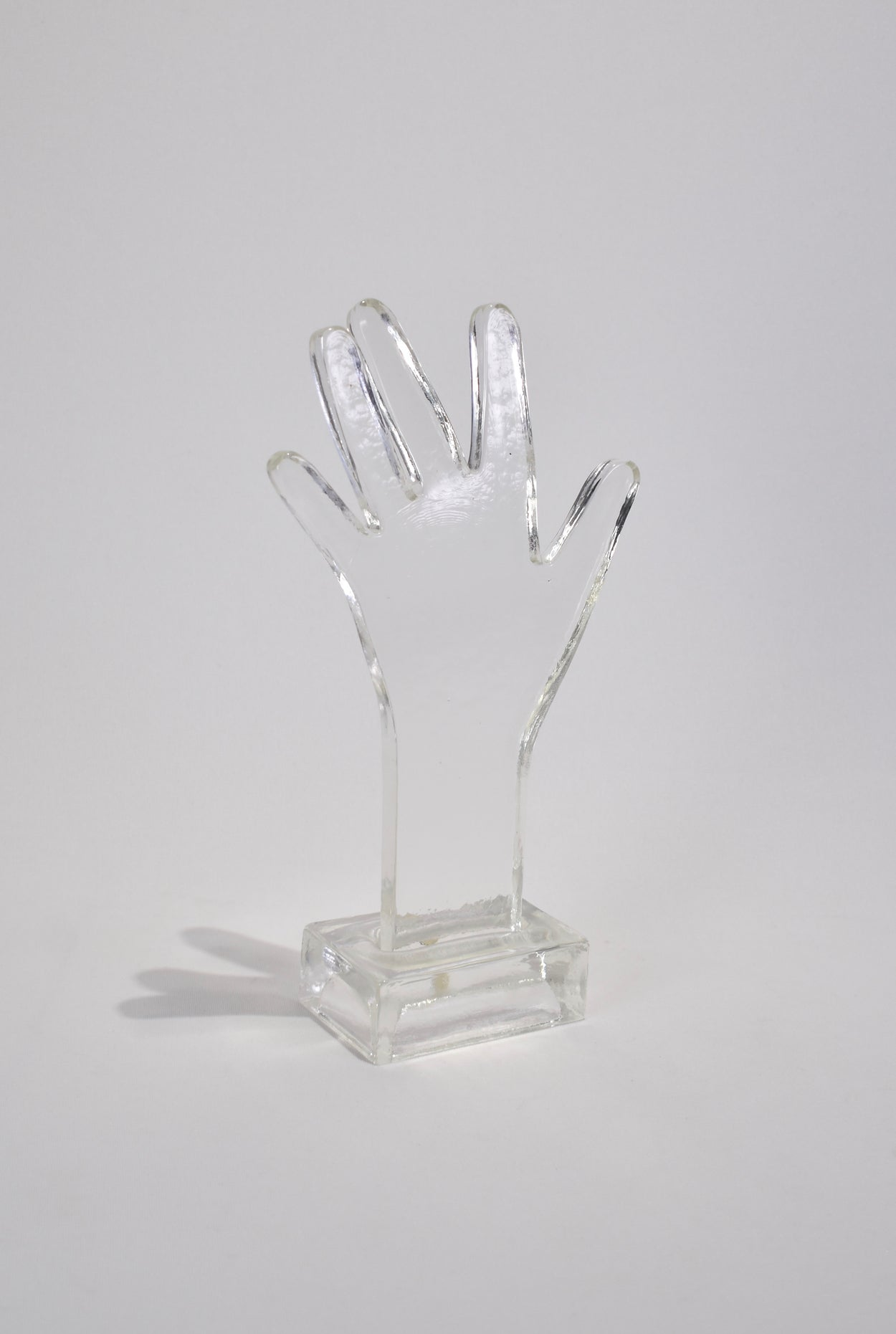 Glass Hand Sculpture