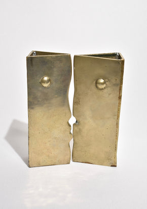 Brass Cubist Face Sculptures