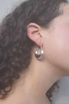 Hinged Sterling Hoops