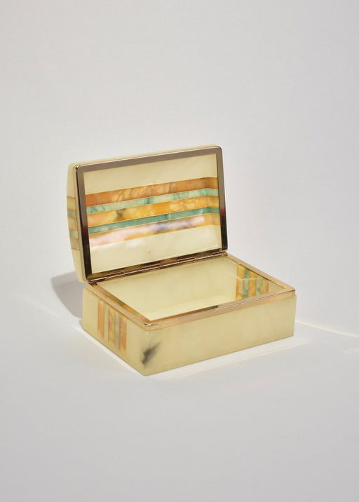 Striped Italian Jewelry Box