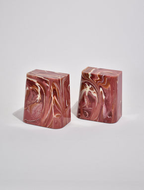 Marbled Stone Bookends