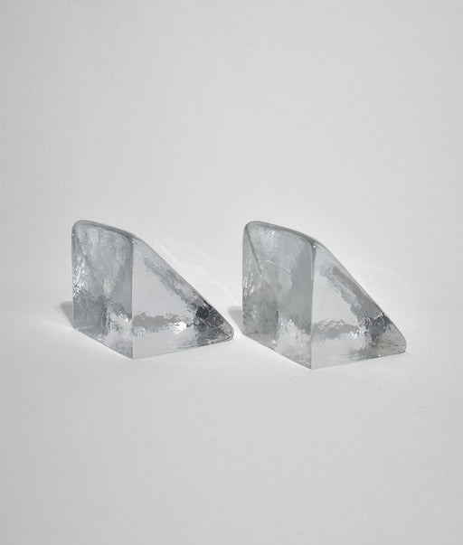 Wedge Glass Bookends