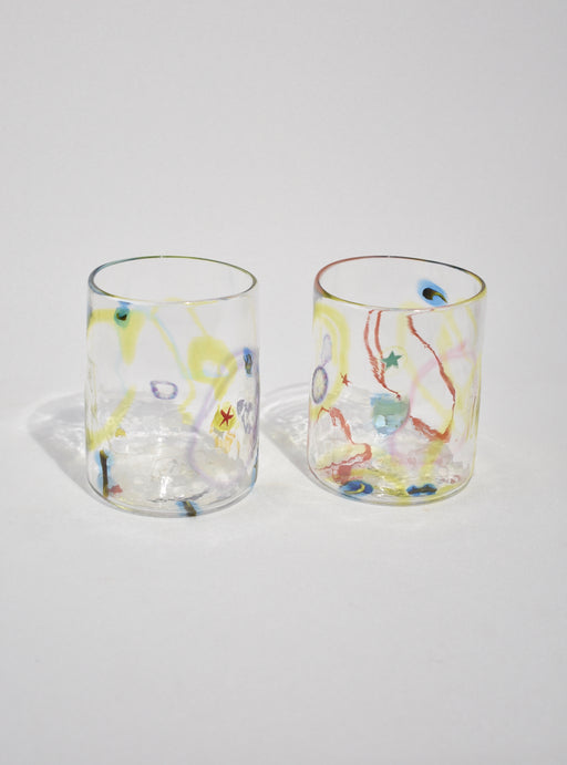 Abstract Glass Tumbler Set
