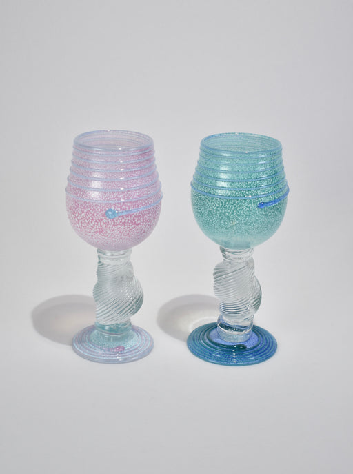 Blown Glass Goblet Set