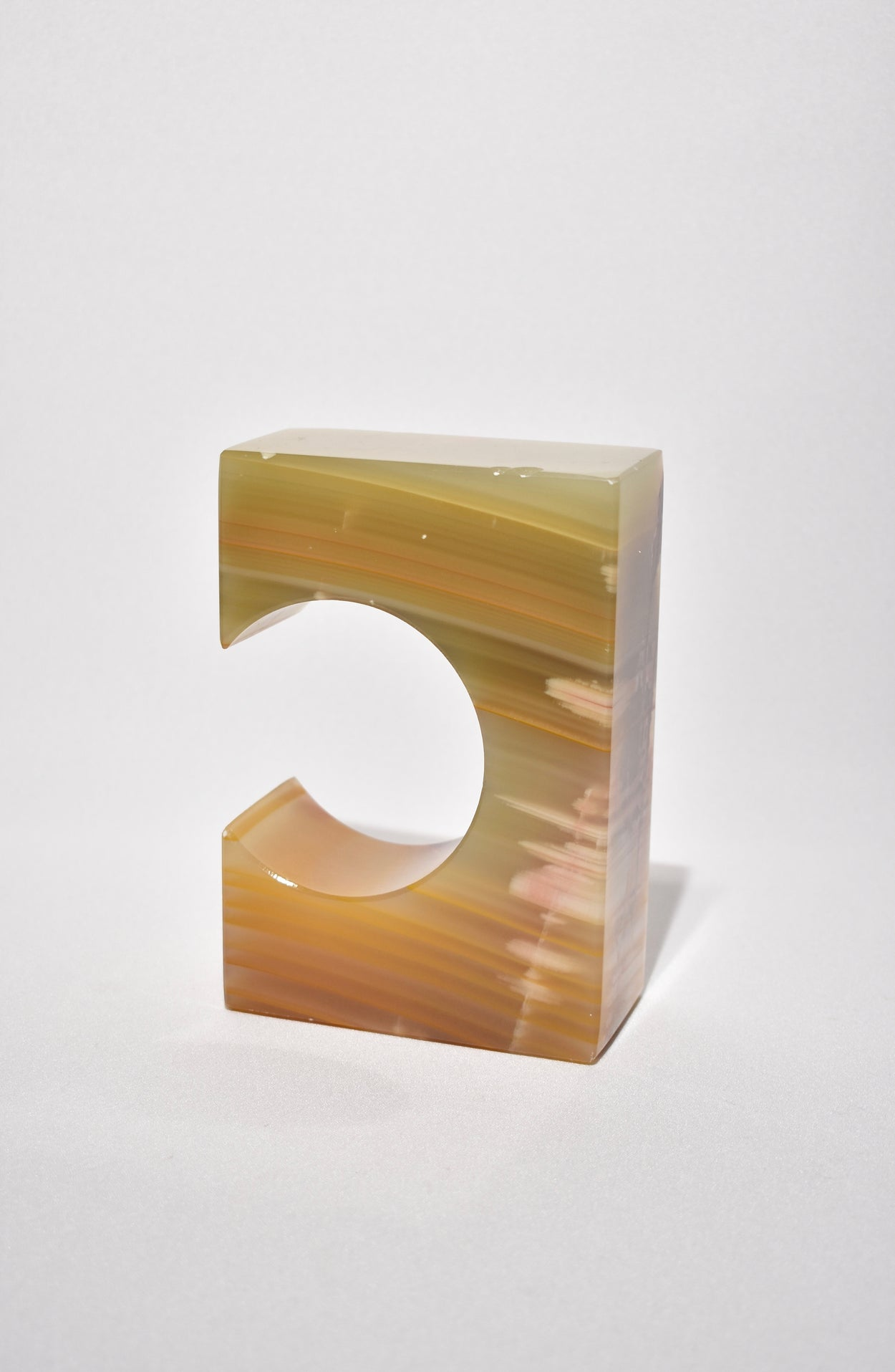 Sculptural Onyx Bookends