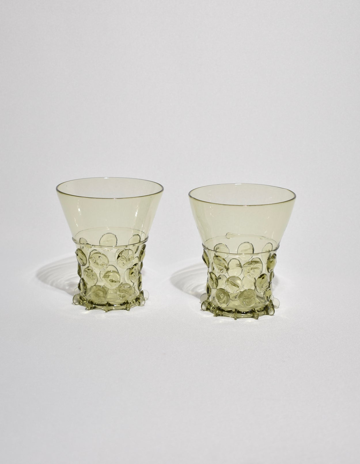 Green Glass Tumbler Set