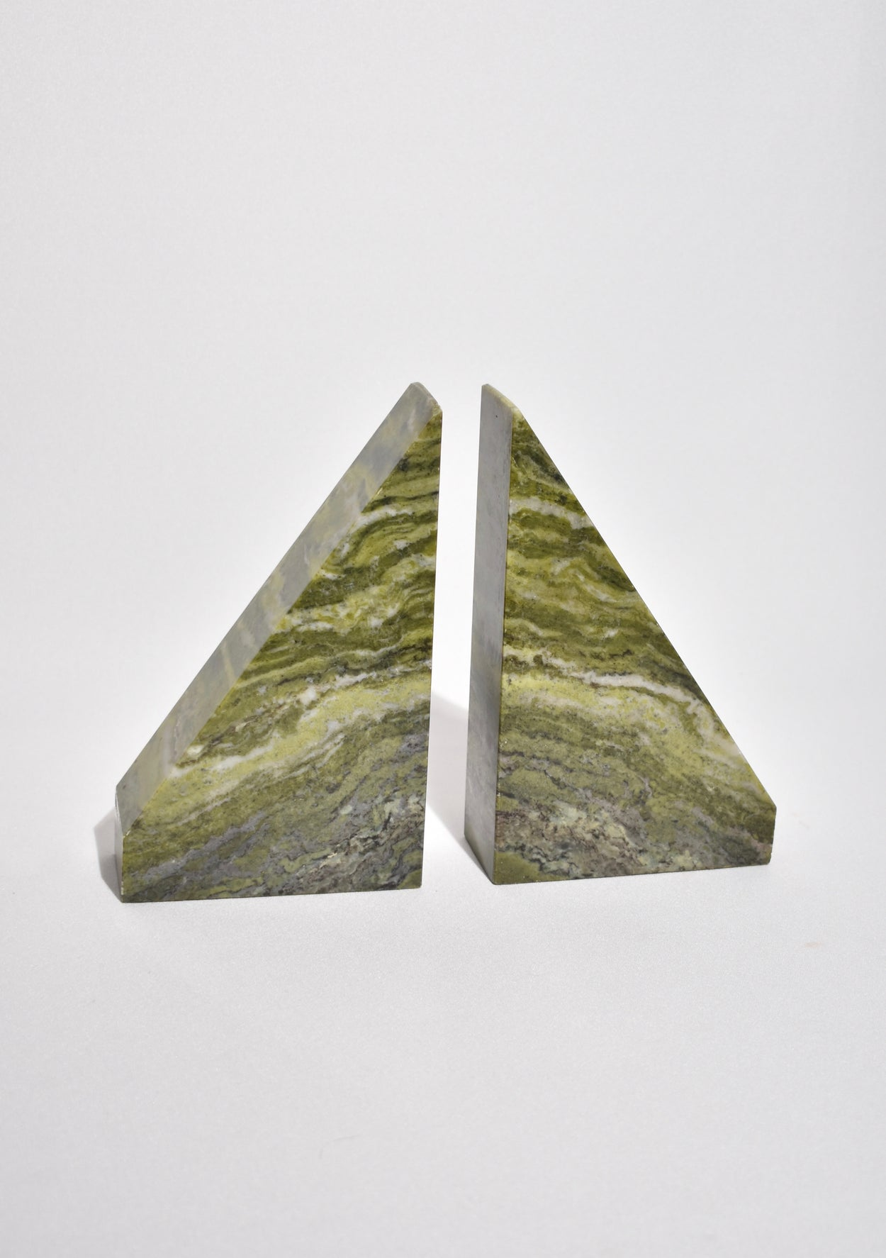 Triangular Marble Bookends