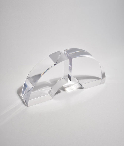 Lucite Arch Bookend Set