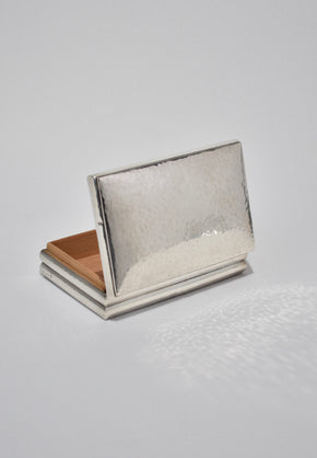 Sterling Deco Jewelry Box