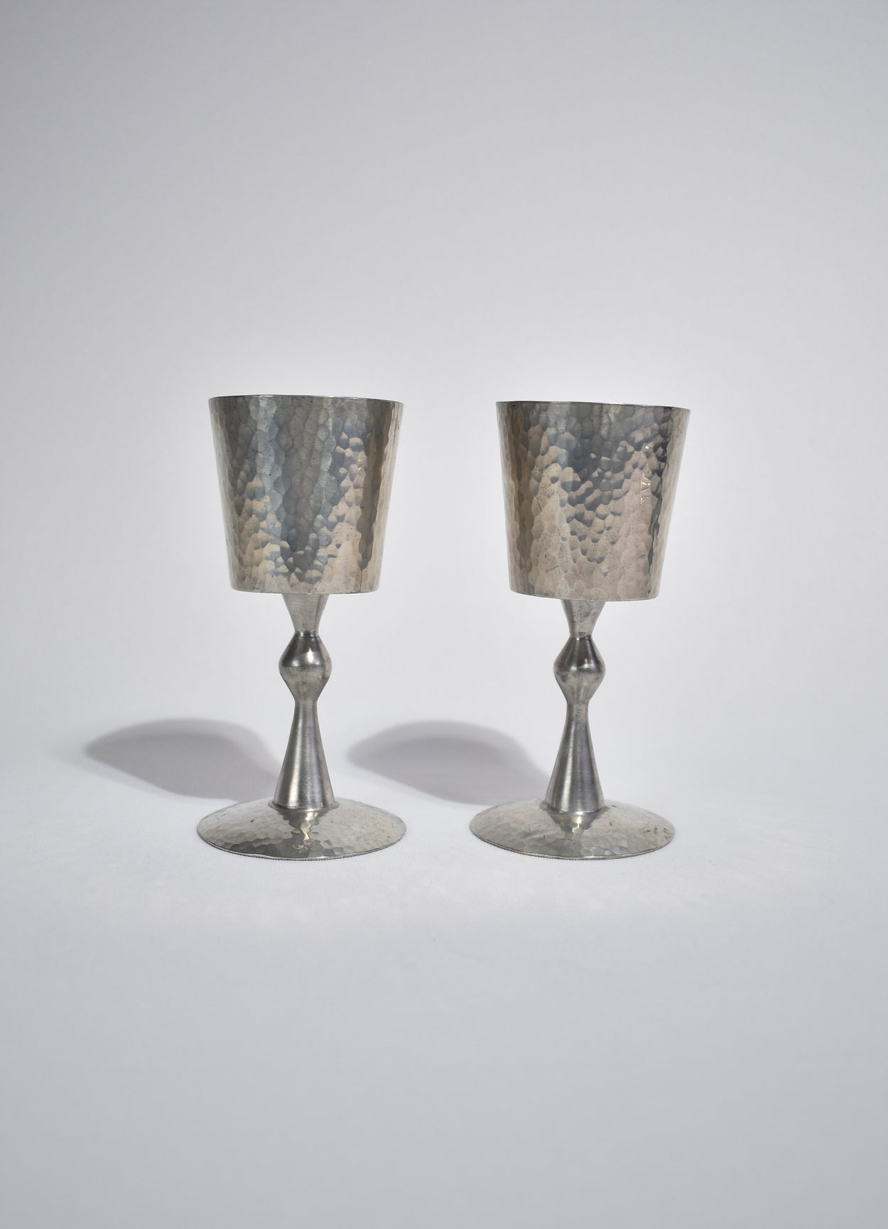 Modernist Pewter Goblets