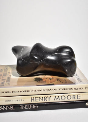 Resting' Black Marble Sculpture