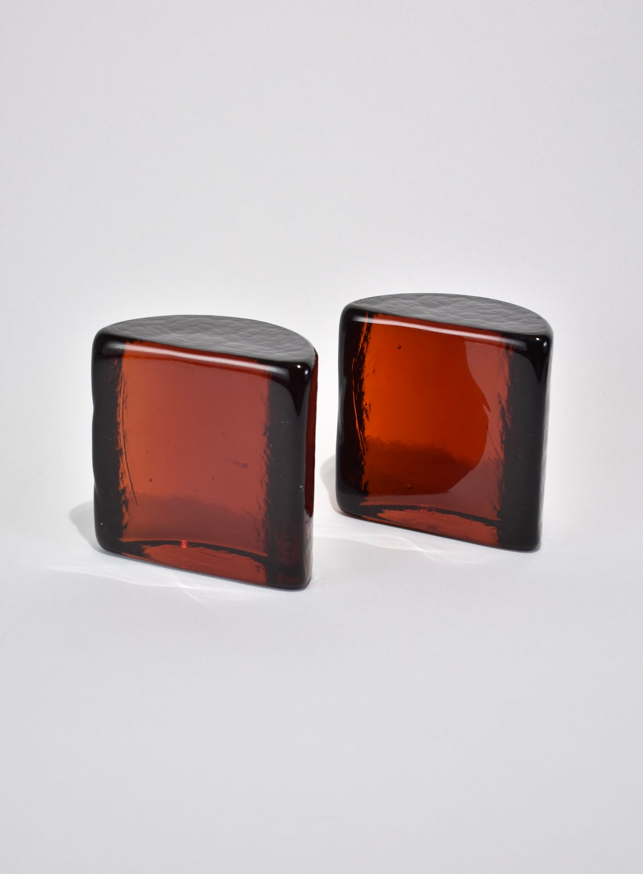 Amber Glass Bookends