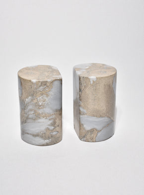 Grey Marble Bookends