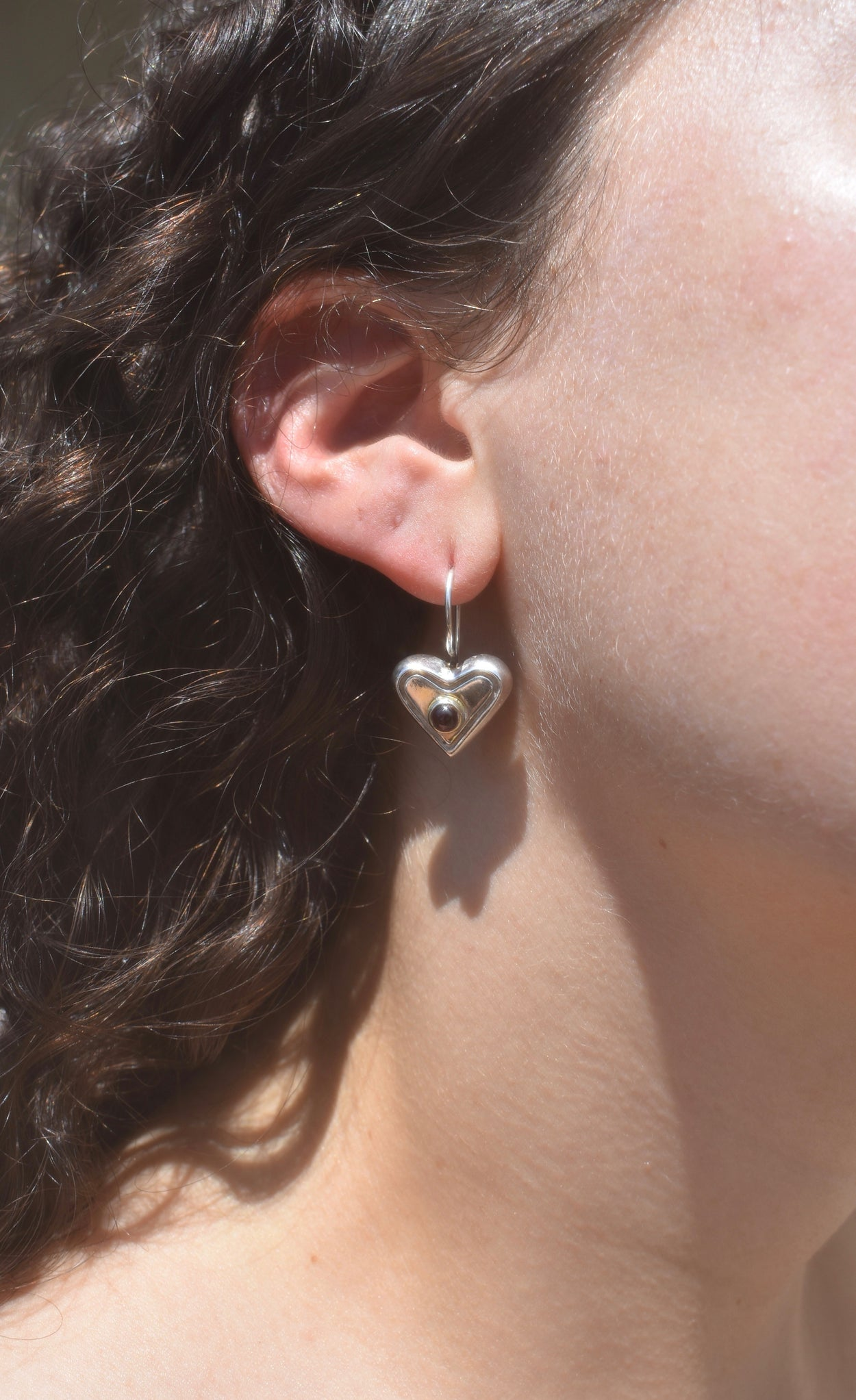 Stone Heart Earrings