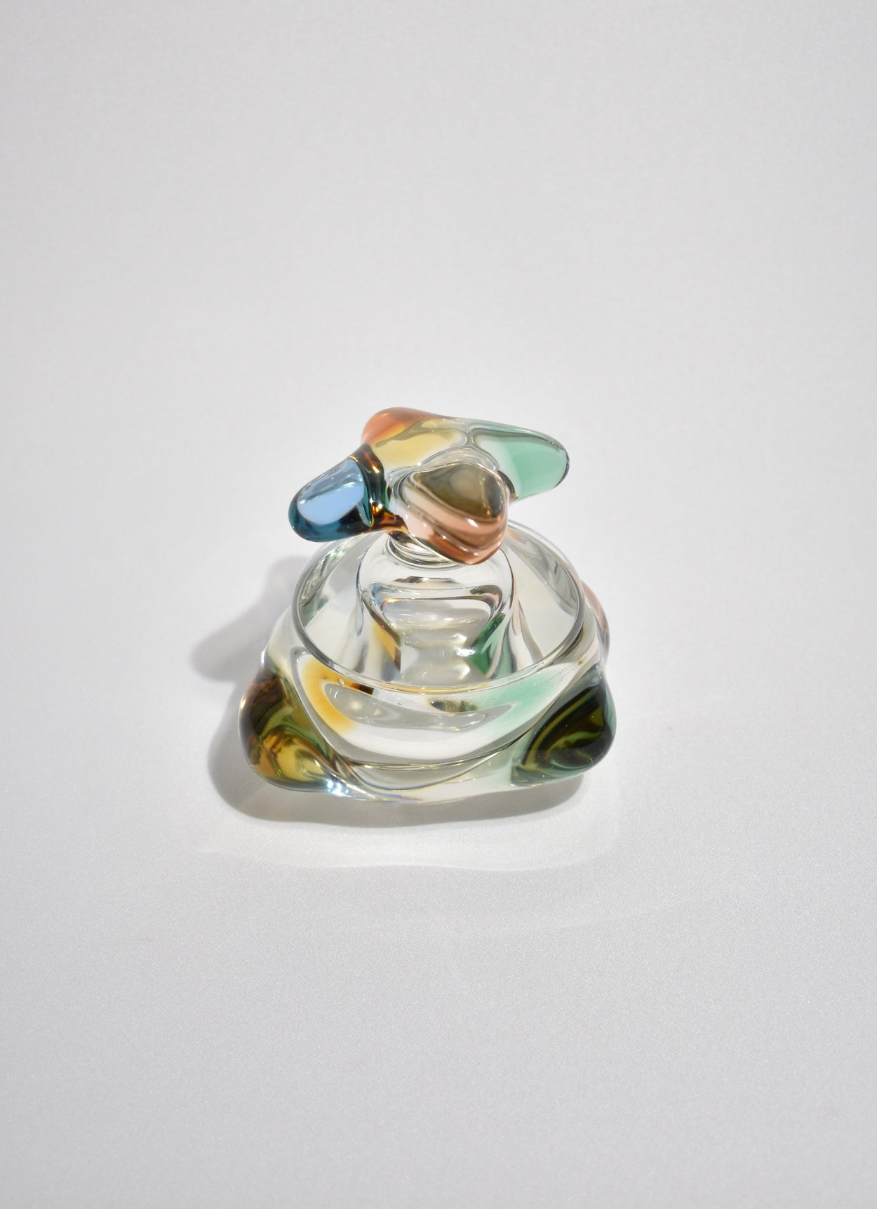 Colorful Glass Lidded Box