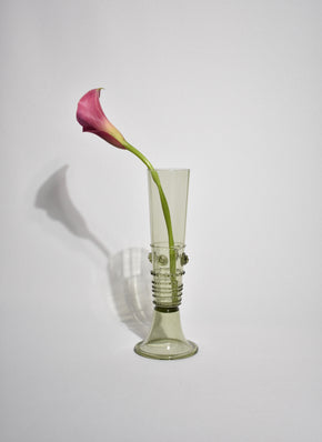 Tall Blown Glass Vase