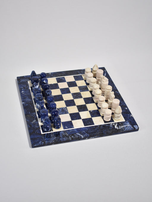 Blue Stone Chess Set