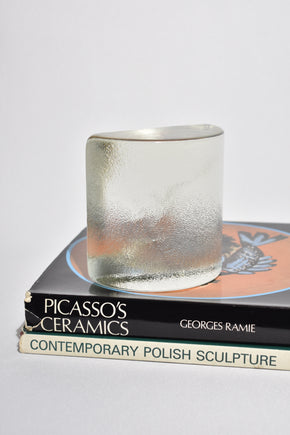 Glass Half Moon Bookends