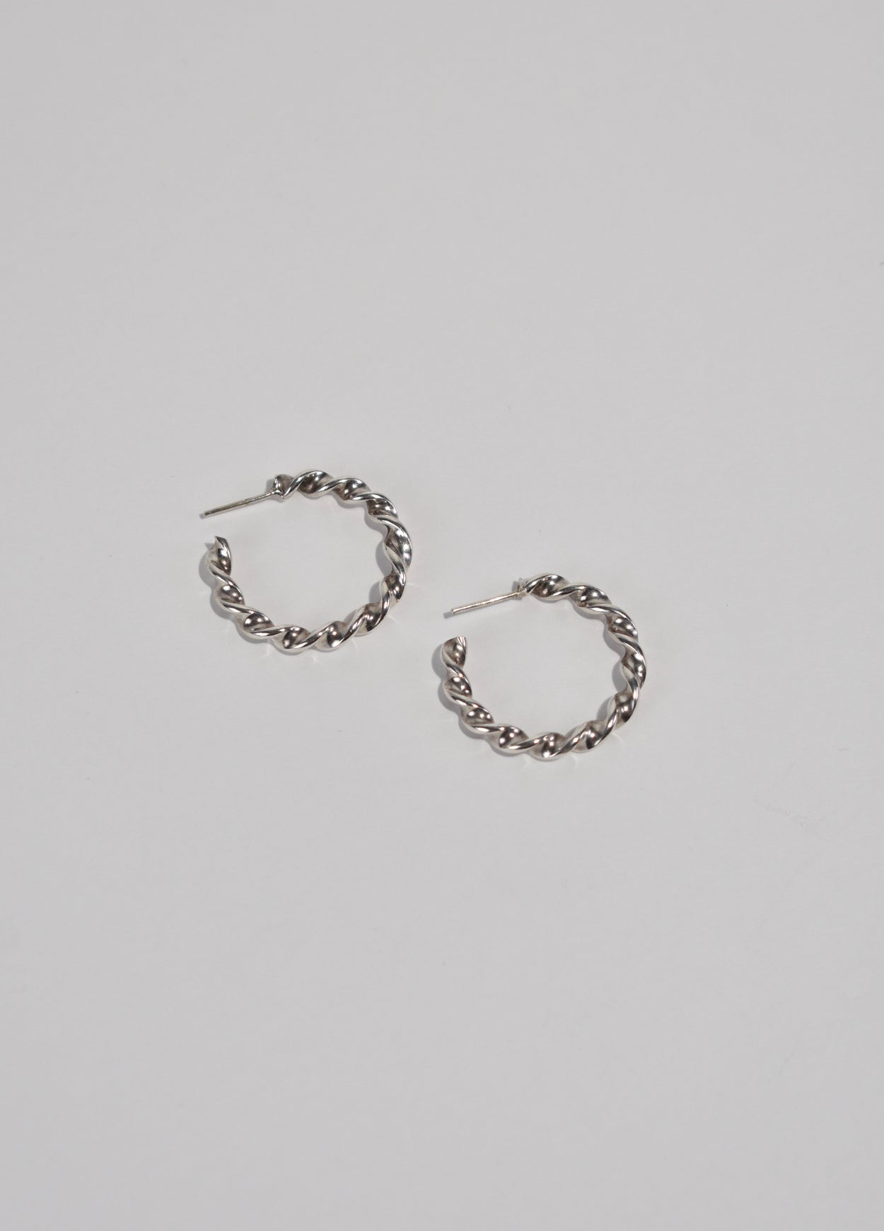 Sculptural Twist Hoops