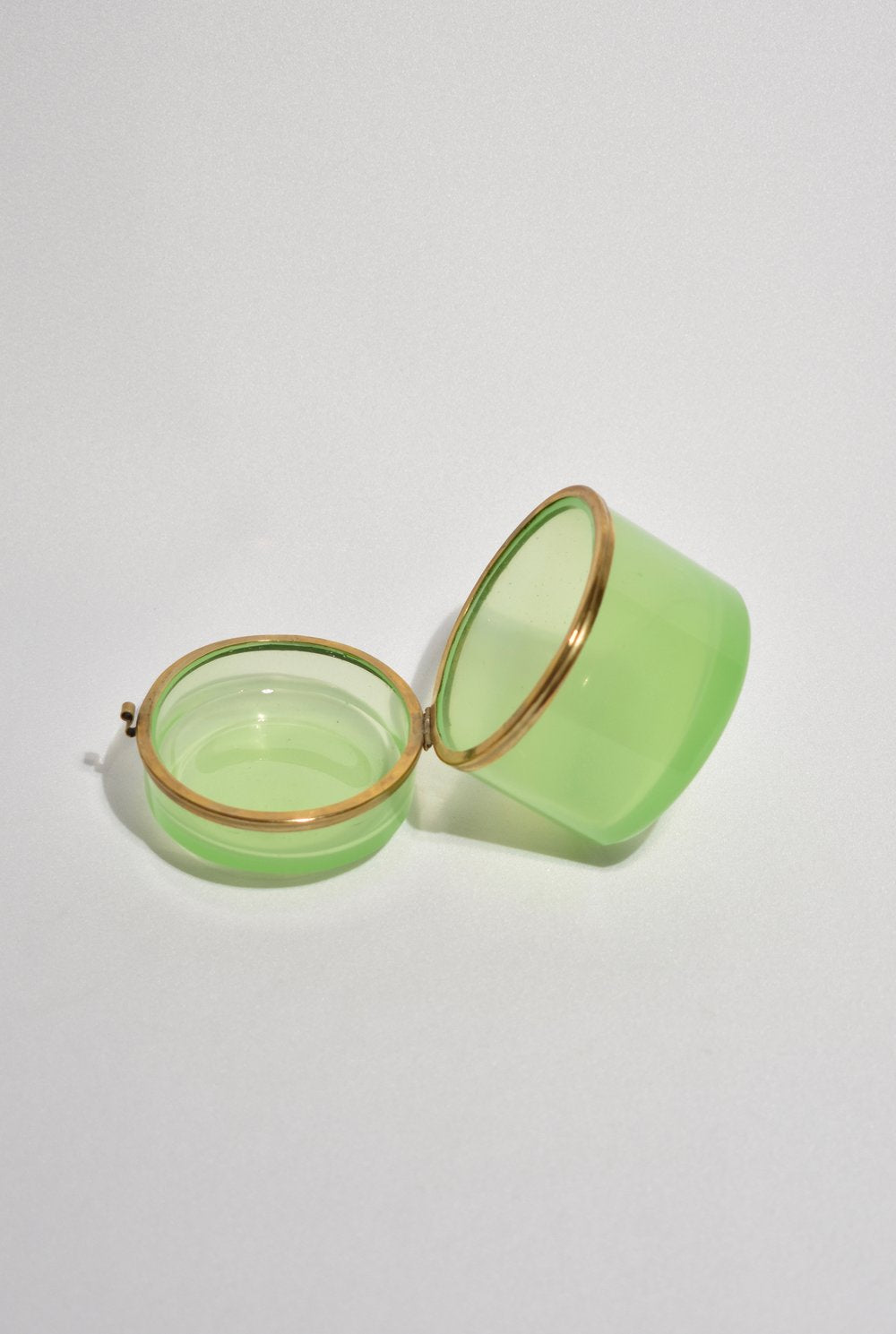 Green Glass Hinged Box