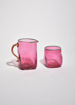 Fuchsia Cream and Sugar Set