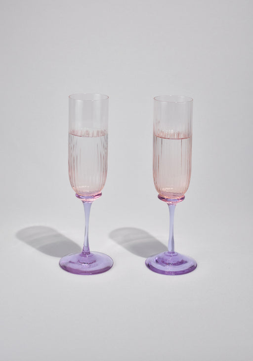 Fluted Champagne Set
