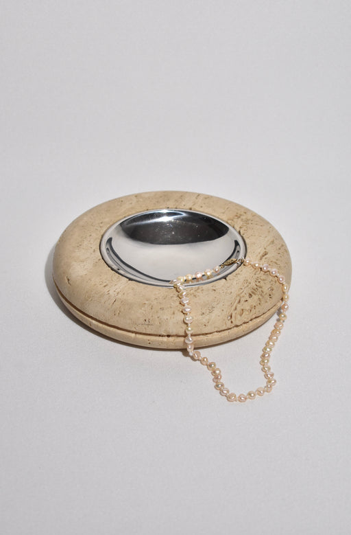 Round Travertine Catchall