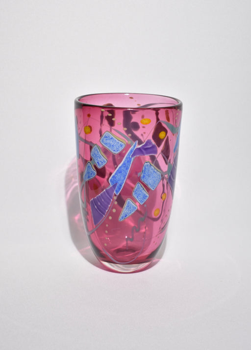 Fuchsia Art Glass Vase
