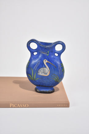 Blue Painted Vase