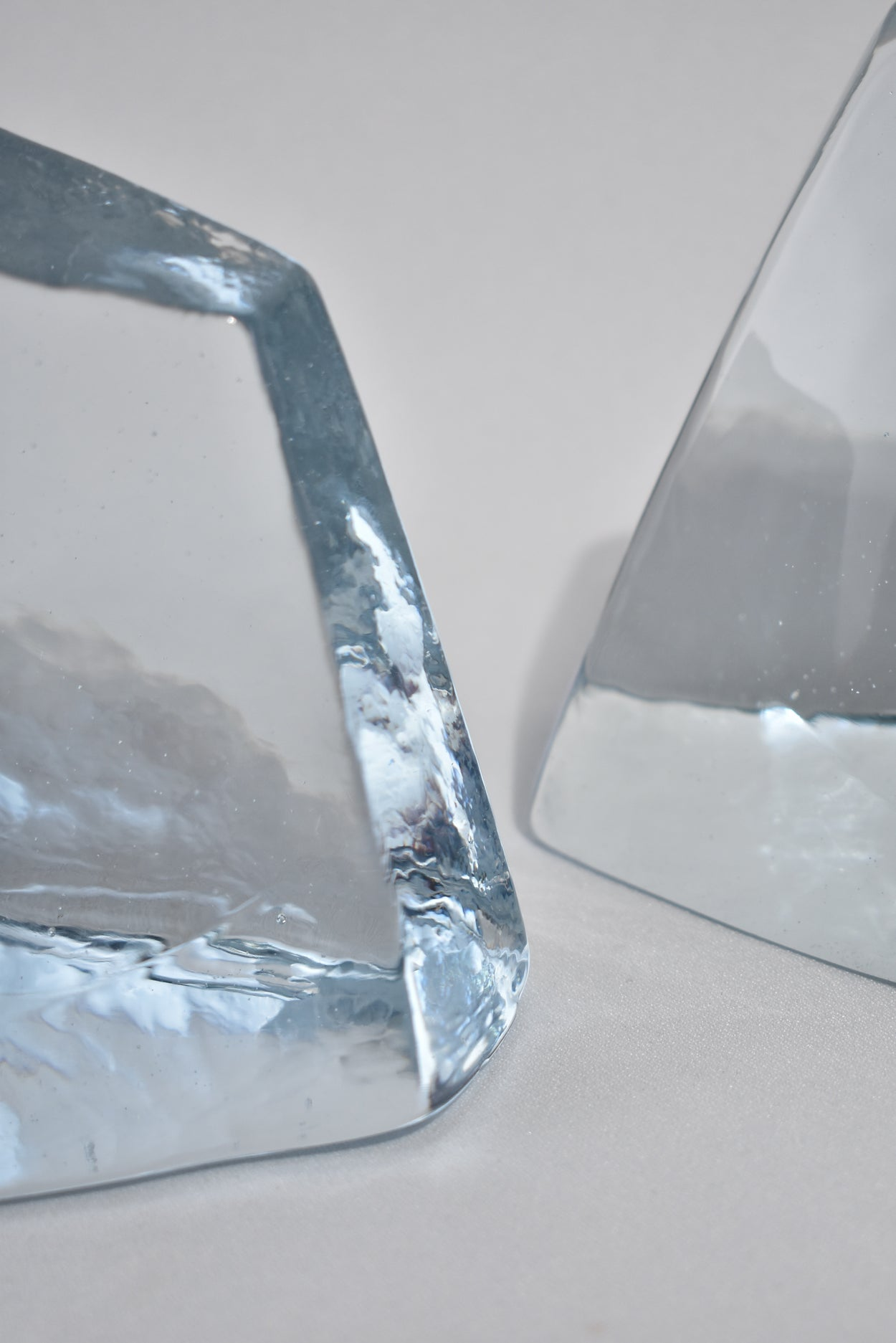 Sculptural Glass Bookends