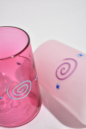 Pink Glass Tumbler Set