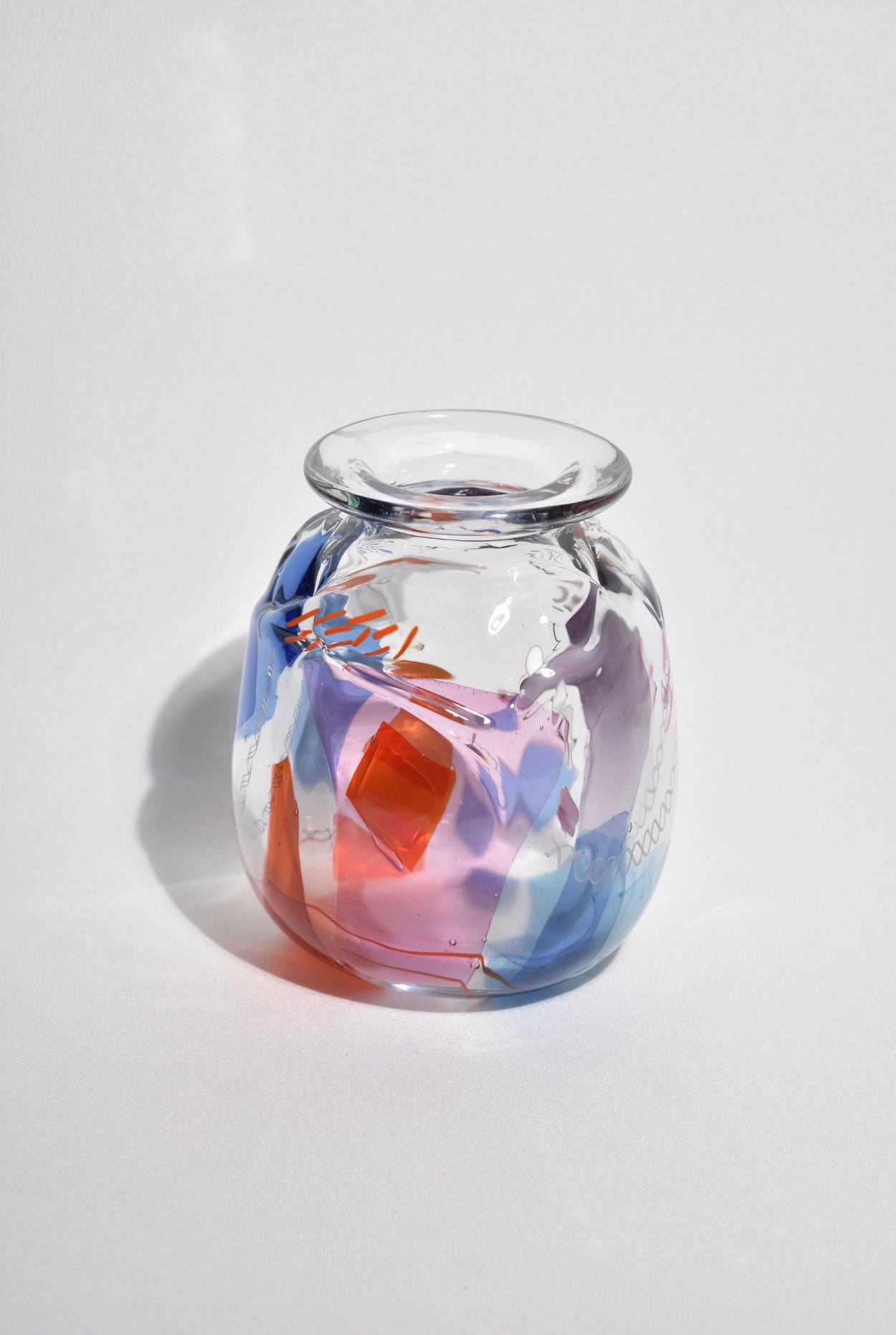 Abstract Glass Vase