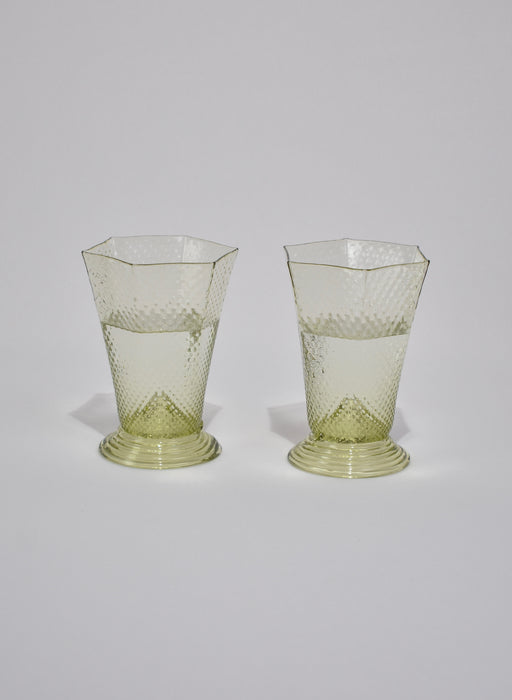 Green Glass Set