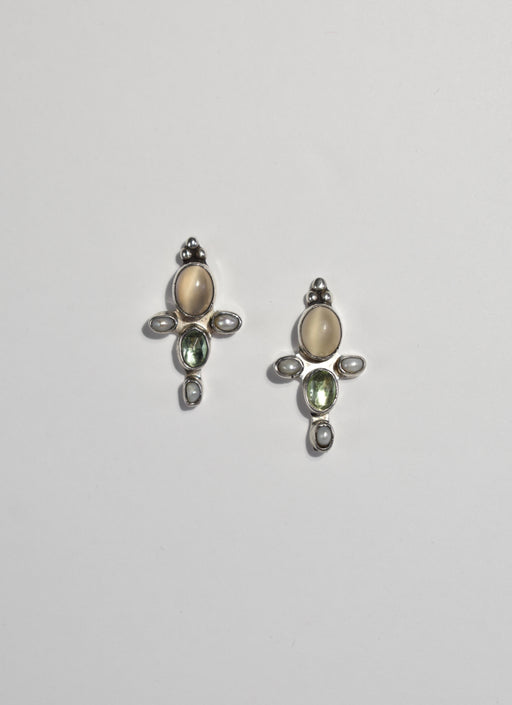Moonstone Pearl Earrings