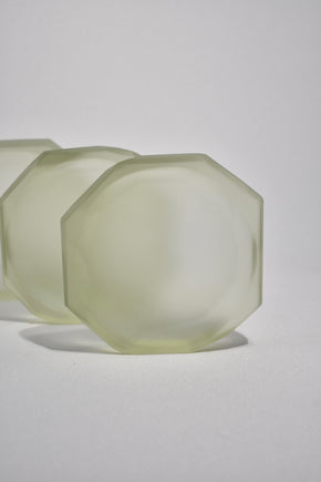 Faceted Glass Dish in Pine