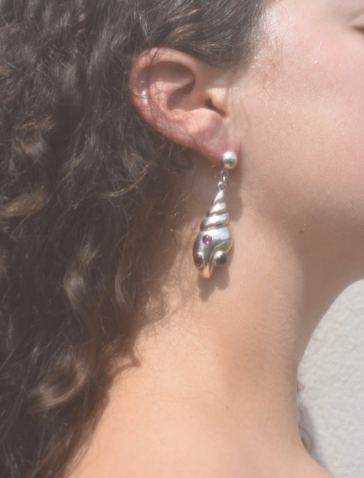 Shell Gemstone Earrings