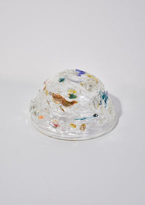 Abstract Glass Bowl
