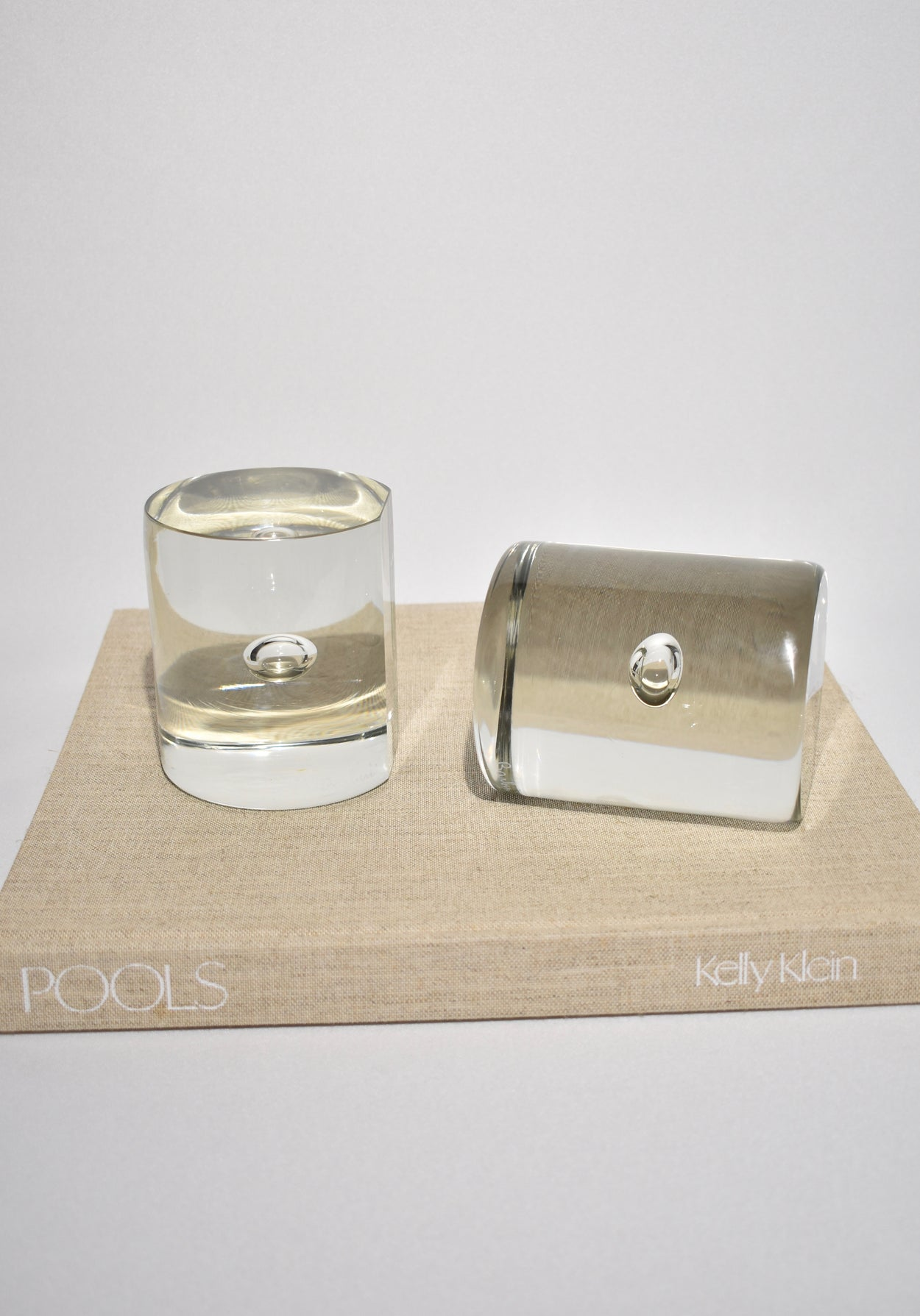 Barbini Cylinder Glass Bookends