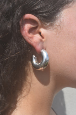 Puffy Sterling Hoops