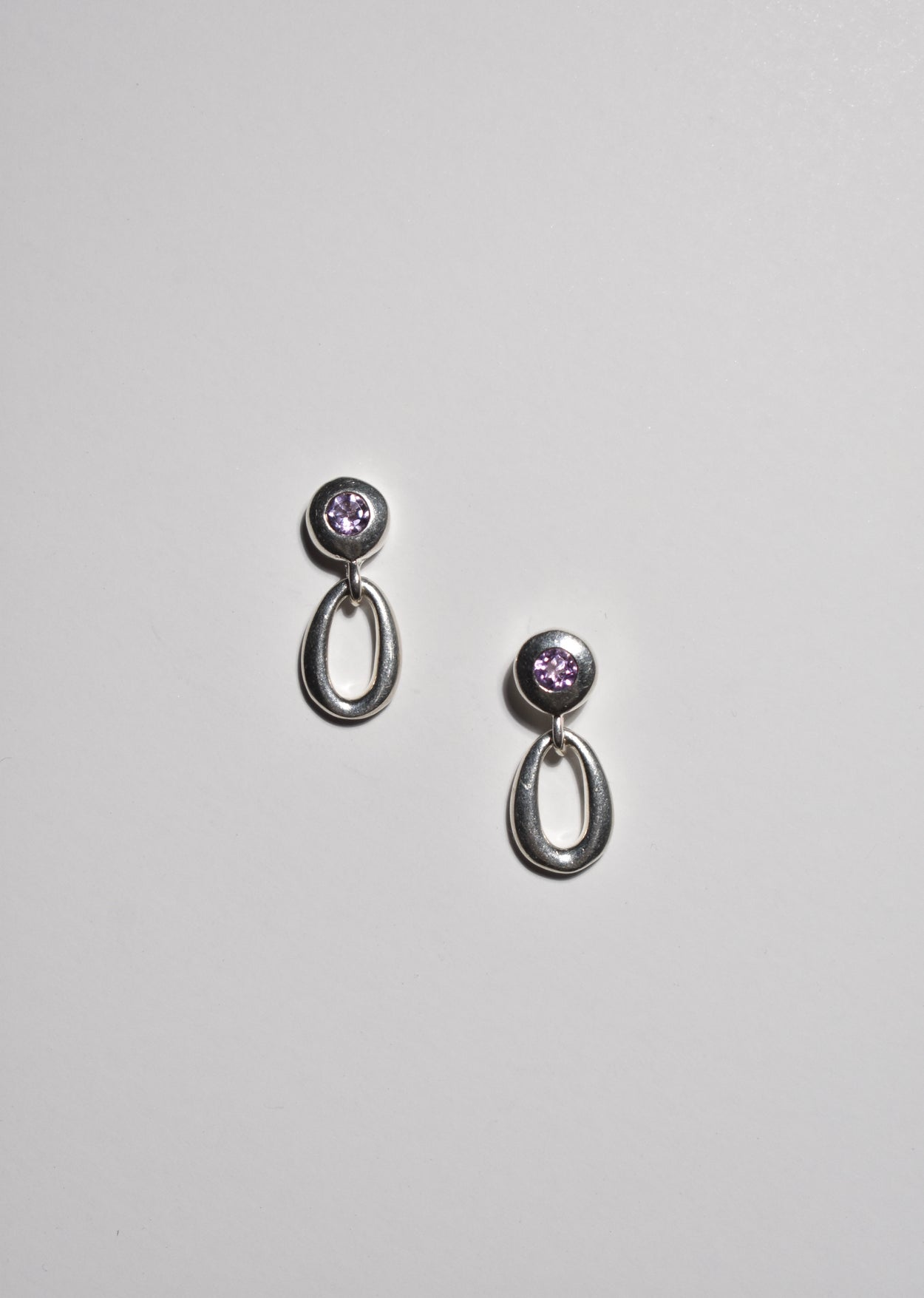 Amethyst Stud Earrings
