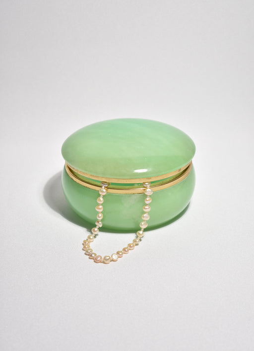 Green Italian Alabaster Box