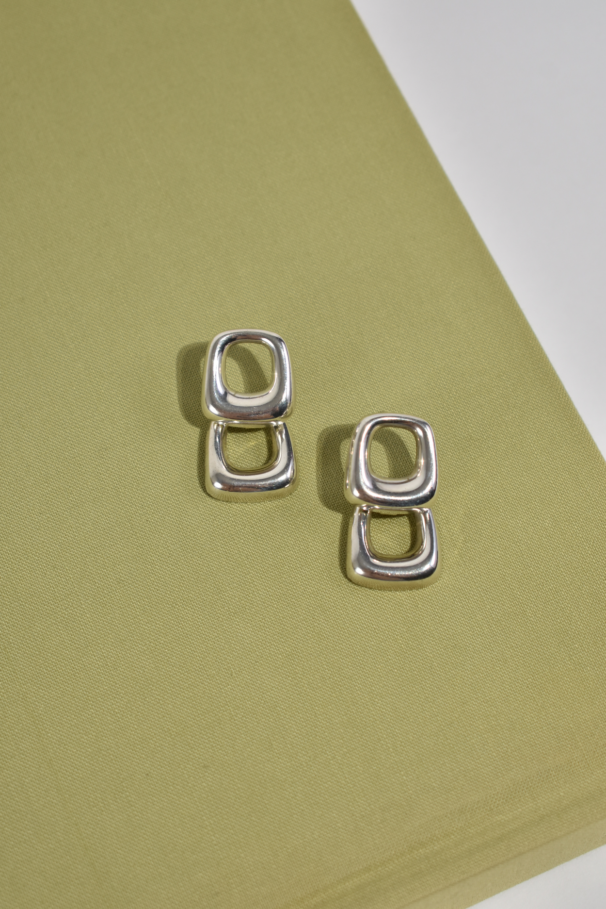 Sculptural Square Earrings