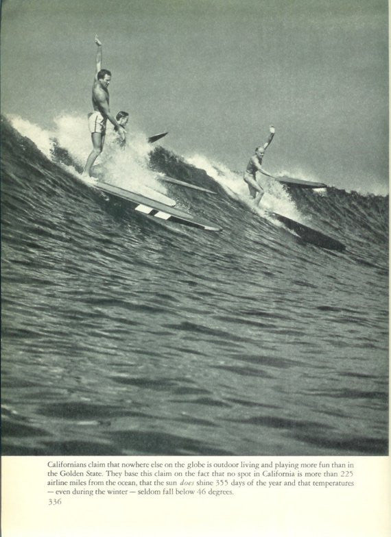 Vintage Surf Photo from Antique 1940's California Book