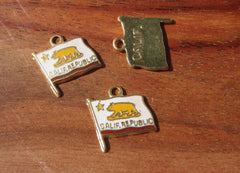Enamel California Flag Charm