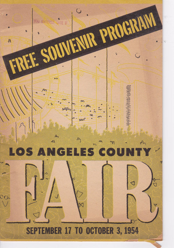 Vintage 1954 Los Angeles County Fair Souvenir Program