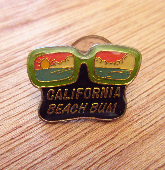 California Vintage Beach Bum Pin circa 1980